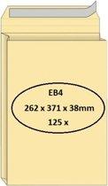 Quantore Monsterzak envelop EB4 262x371x38mm, Zelfklevend, Creme, 125 stuks
