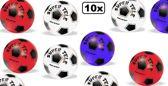 10x Speel voetbal plastic assortie