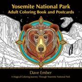 Omslag van 'Yosemite National Park Adult Coloring Book and Postcards'