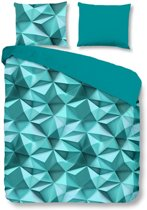 Good Morning 5568-A Geo - dekbedovertrek - lits jumeaux - 240x200/220 cm  - 100% cotton - aqua