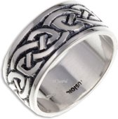 Endless Knot (Broad) Zilveren ring