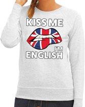 Kiss me I am English sweater grijs dames M