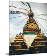 Stoepa bij het Durbarplein in Kathmandu Aluminium 120x160 cm - Foto print op Aluminium (metaal wanddecoratie) XXL / Groot formaat!