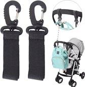 Kinderwagen haken 2 stuks - Buggy - Accessoires - Tassen haak - Boodschappentas - Luiertas - Extra stevig - Anti diefstal - Clips