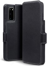 Samsung Galaxy S20 hoesje, MobyDefend slim-fit extra dunne bookcase, Zwart - Geschikt voor: Samsung Galaxy S20