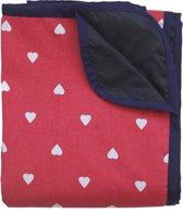 Picknickkleed rood met witte stip
