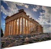 Parthenon van Athene Aluminium 90x60 cm - Foto print op Aluminium (metaal wanddecoratie)
