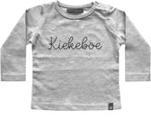 Your Wishes Unisex T-shirt Kiekeboe - grijs - Maat 74/80