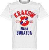 Wisla Krakow Established T-Shirt - Wit - XXL