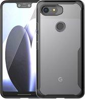 Mobigear Acrylic Schokdempend Hoesje Zwart Google Pixel 3