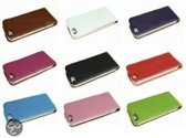 Leather case iPhone 5 hoes flip cover - WIT