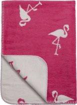 Meyco Flamingo ledikantdeken - 120 x 150 cm - framboos