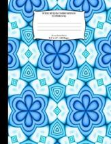 Wide Ruled Composition Notebook. 8.5 X 11. 120 Pages. Flowers Design Pattern