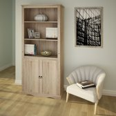 boekenkast met deuren -  DVD stelling in landhuisdesign -  wandplank met lade