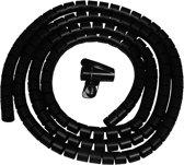Kabel geleider - kabelslang - zwart - met montagetool - 3 meter - 15 mm doorsnede