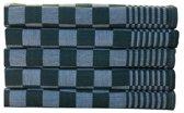 Homéé - Blokdoeken Pompdoeken Theedoeken groen  wit   set van 6 stuks   65x65cm