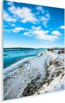 Kustlijn bij het Nationaal park Forillon in Quebec Plexiglas 120x180 cm - Foto print op Glas (Plexiglas wanddecoratie) XXL / Groot formaat!