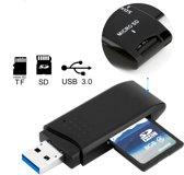 USB 3.0 - MemoryCard Reader Adapter - SD Kaart Reader - (Micro) SD Geheugenkaarthouder