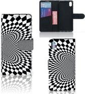 Bookcase Xiaomi Redmi 7A Zwart-Wit Design Illusie