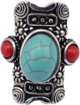 Bohemian ring van Tibetaans zilver