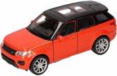 Speelgoed modelauto oranje Range Rover Sport auto 1:36