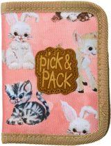 Pick & Pack Wallet - Cute Animal Wallet  / Coral