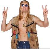 Indiaan of hippy vest voor heer