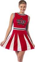Rood cheerleader kostuum
