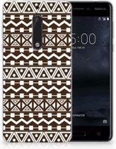 Nokia 5 Uniek TPU Hoesje Aztec Brown