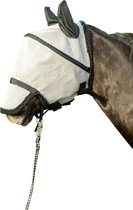 Fly mask with nostril protection and velcro