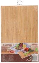 Snijplank 2in1 | Bamboe & Marmer snijplank | 23x37 cm | Snijplank hout | Keukengadgets