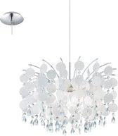 EGLO Fedra Hanglamp - 1 Lichts - Chroom - Parelmoer, Helder