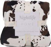 Nightlife Home Plaid Koeienprint 150x200cm - Lycra/elastaan
