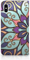 iPhone Xs Max Standcase Hoesje Design Purple Flower