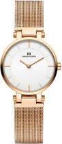 Danish Design IV67Q1089 horloge dames - ros� - edelstaal PVD ros�