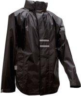 Ralka Regenjas - Volwassenen - Unisex - Zwart - Maat L