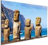 Paaseiland stille oceaan Aluminium 30x20 cm - Foto print op Aluminium (metaal wanddecoratie)