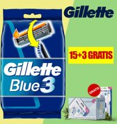Gillette Blue 3 Wegwerp Scheerapparaat 18 Stuks - Voordeelverpakking - Gratis Oramint Oral Care Kit