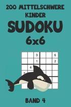 200 Mittelschwere Kinder Sudoku 6x6 Band 4: Sudoku Puzzle R�tselheft mit L�sung, 2 R�stel pro Seite