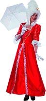 Markiezin taft jurk middeleeuwen rood Maat 42
