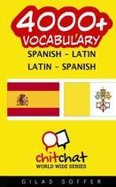 4000+ Spanish - Latin Latin - Spanish Vocabulary
