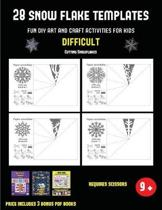 Cutting Snowflakes (28 snowflake templates - Fun DIY art and craft activities for kids - Difficult)