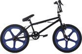 """Ks Cycling Fiets Freestyle BMX 20"""" Xtraxx zwart-blauw - ca. 28 cm"""