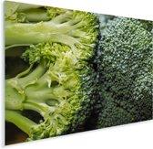 Twee tegen elkaar aan liggende broccoli's Plexiglas 160x120 cm - Foto print op Glas (Plexiglas wanddecoratie) XXL / Groot formaat!