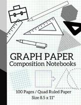 Graph Paper Composition Notebooks: Maths Or Science Composition Notebook For Students With Quad Ruled 5 Squares per inch Graph Paper Suitable For Prog