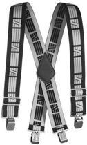 elastische bretels zwart/donkergrijs 9050-0418 000