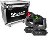 BeamZ Professional IGNITE180B LED Beam Moving Head 2 stuks in Flightcase