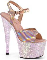 Pleaser Sandaal met enkelband -37 Shoes- ADORE-709HGG Roze