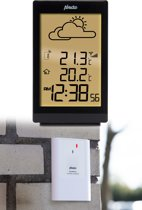 Alecto WS-2200 Stijlvol weerstation |  Draadloze buitensensor, verlicht display | zwart