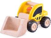 Houten speelgoedvoertuig Graafmachine